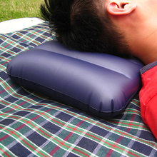 Portable Air Inflatable Mattress Pillow Folding Air Flocking Cushion For Outdoor Travel Camping HikingPicnic Sleep Rest Pillows