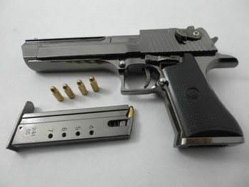 1/2.05 metal fake gun Desert Eagle Black Ver. gun police handgun toy pistol gun model toy guns metal