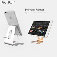 RAXFLY Universal Phone Tablet Desk Stand Holder Aluminum Metal Bracket Kickstand For IPhone For Samsung Huawei