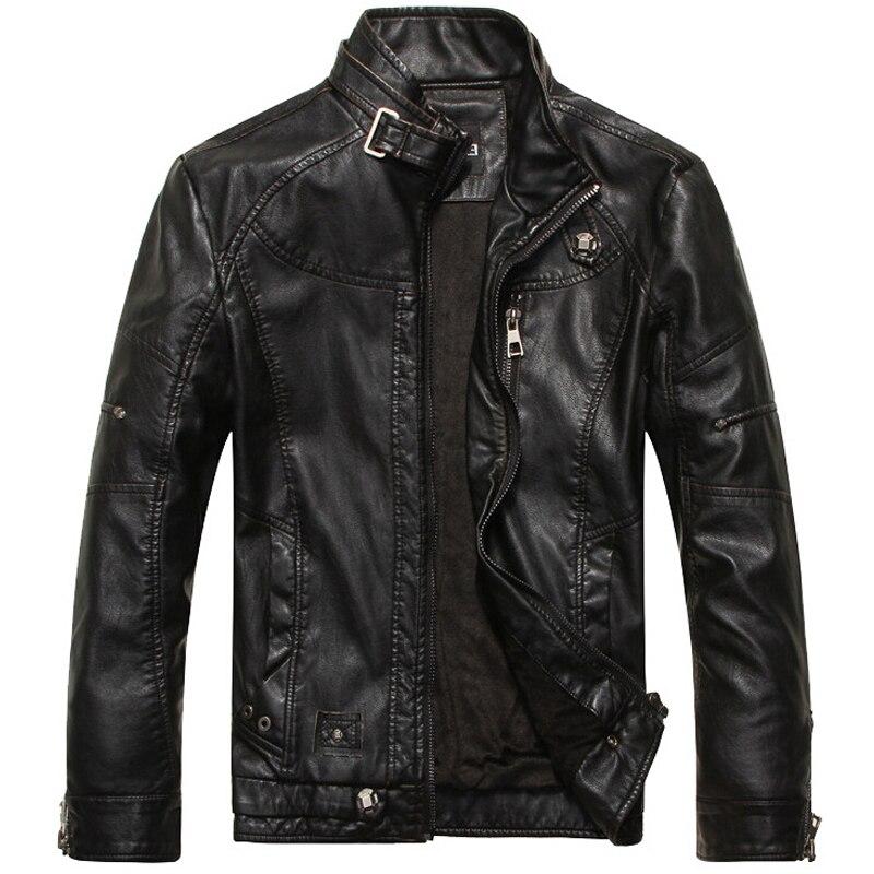 Leather Jacket Men Motorcycle Jackets jaqueta de couro masculina motoqueiro casaco male leather bomber jacket Mens veste homme