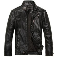 Leather Jacket Men Motorcycle Jackets jaqueta de couro masculina motoqueiro casaco male leather bomber jacket Mens