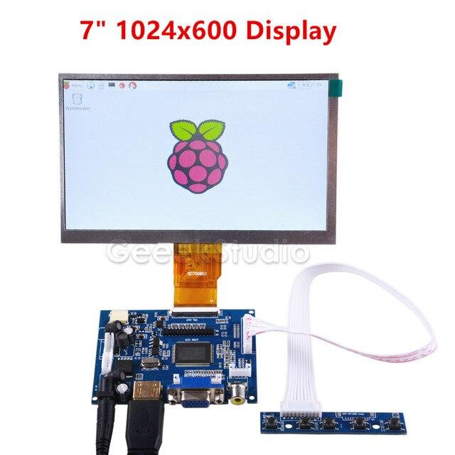 Raspberry Pi 7 дюймов ЖК-дисплей Дисплей 1024*600 TFT монитор Экран с привод доска для Raspberry Pi 2/3 Модель B