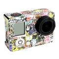 Go Pro Decal Accessories Cartoon Graffiti Pattern Case Decals  Adhesive Bag Skin sticker for GoPro Hero 3+ / 3
