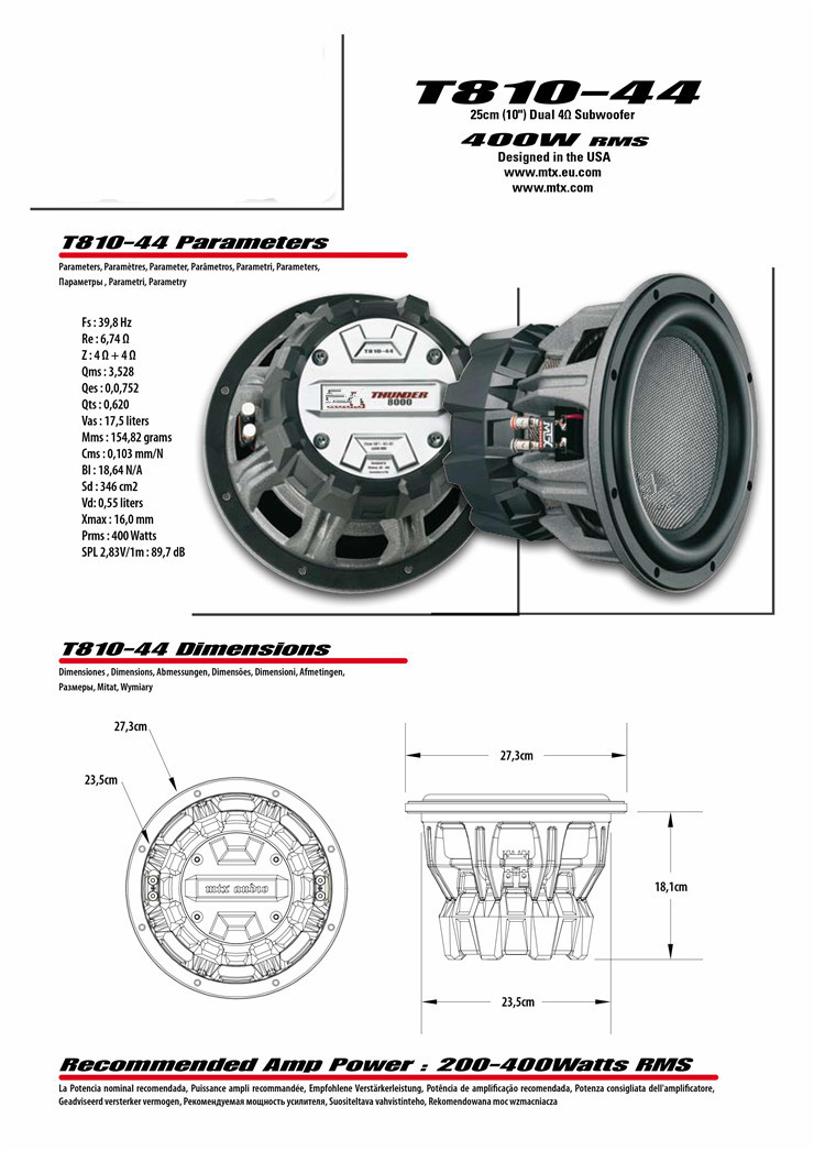 US $1185 63 |Car audio United States T812 44MTX car audio speaker 12 inch  ultra bass speaker-in Component Subwoofers from Automobiles & Motorcycles  on