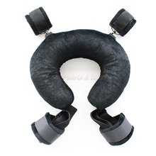 Sex Products Neck Pillow Position Control Eeasy Open Legs Comfortable Pillow Sex Aid Neck&ankle Restraints Cuff Adult Game