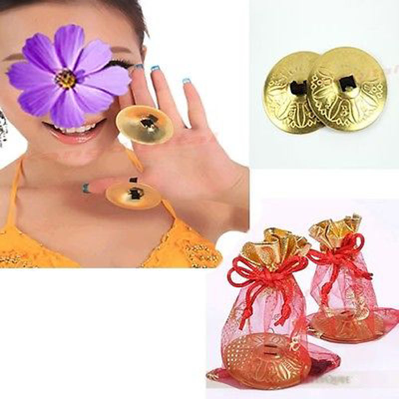 2016 1 Pair Belly Dance Finger Cymbals Zills Belly Dancing Accessories Decoration On Sale
