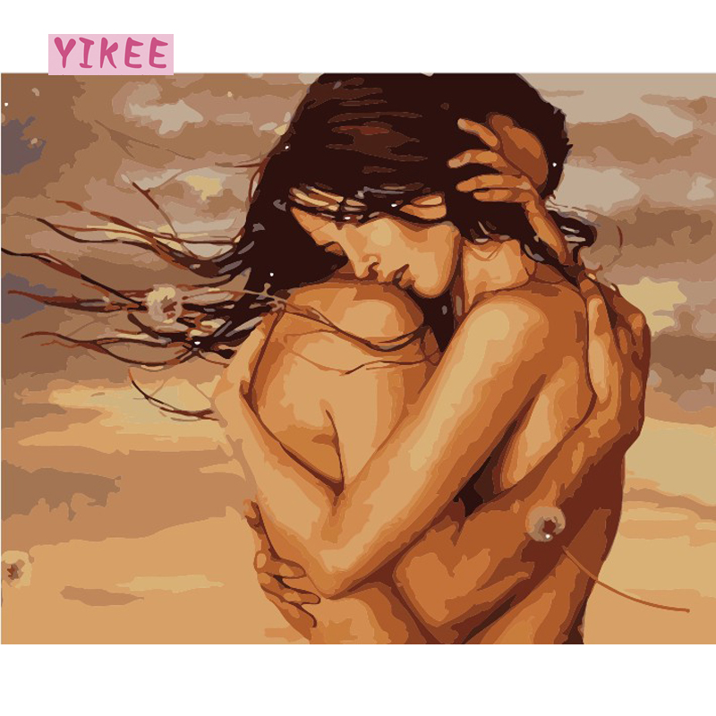 decorative couple in love diy oil painting by numbers,painting by numbers lovers hug