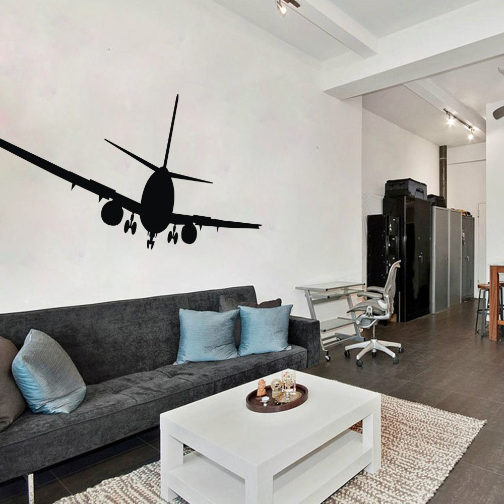 Airplane wall decals aviation wall decor jumbo jetliner for International diffusion decor