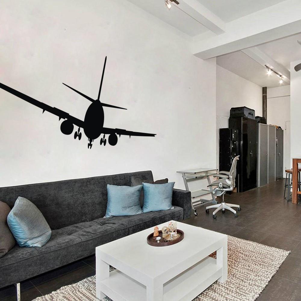 Airplane wall decals aviation wall decor jumbo jetliner for International wall decor