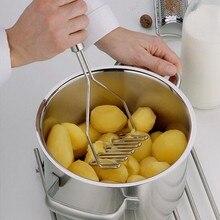 Practical Fashion Salad Potato Crusher DIY Egg Vegetable Baking Stainless Steel Masher Kitchen Practical Accessories Tools