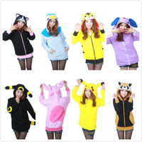 Hot Sale Blue Powder NIGHT ELF Bearcat Pikachu Polar Funny Lovely Cartoon Anime Cosplay Costume Cartoon