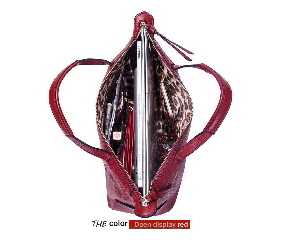 Female Bag Women Handbag Composite Messenger Bag Women Shoulder Bag Lady Genuine Leather Crossbody Bags For Women Cow - 6