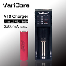 1pcs. New original  HE2 18650 lithium Rechargeable battery 3.7V 2500 mAh +VariCore V10 18650 Charger