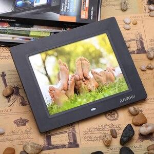 Image 5 - Andoer 8 Ultradunne 1024*600 Hd TFT LCD Digitale Fotolijst Wekker MP3 MP4 Movie Player Met Afstandsbediening desktop