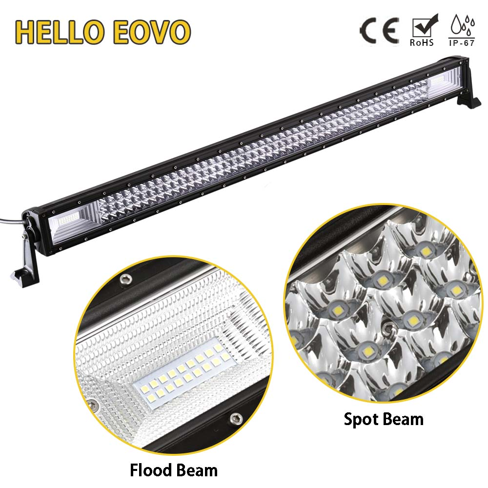 HELLO EOVO LED Bar 3 Rows 42 inch LED Light Bar for Work Indicators Driving Offroad Boat Car Tractor Truck 4x4 SUV ATV 12V 24v new arrivals 20 inch 128led car work light 4 rows 384w led bar combo off road driving lamp