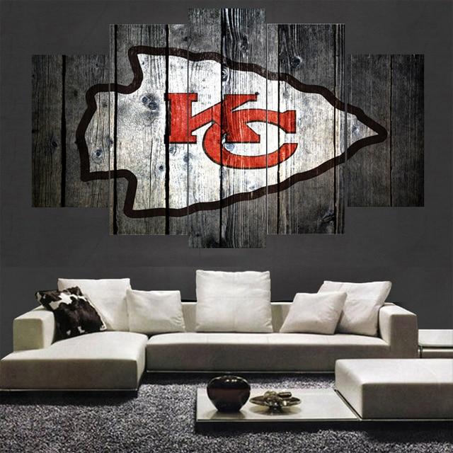Sport Kansas City Chiefs Logo Schilderijen Muur Interieur Foto ...