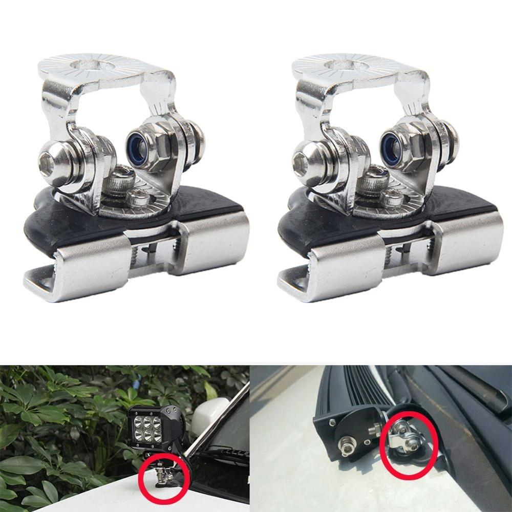 Universal Mounting Brackets for Car Auto Offroad Excavator Truck Sedan Saloon Off Road Hood Engine Cover Bonnet Stainless Steel