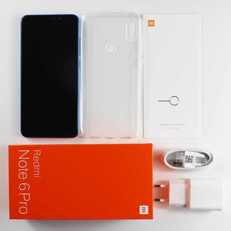 Смартфон Xiaomi Redmi Note 6 Pro с глобальной версией, 4 ГБ, 64 ГБ, Восьмиядерный процессор Snapdragon 636 6,26 дюйма, двойная камера с полным экраном 4000 мАч