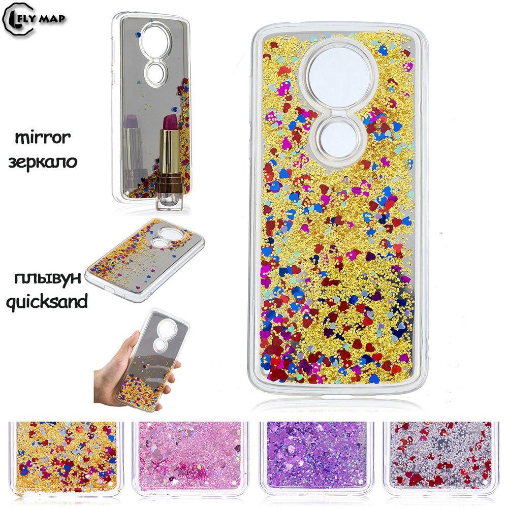 Mirror Flash Star Case for Motorola Moto E5 PLUS XT1924-4 Liquid Quicksand Silic