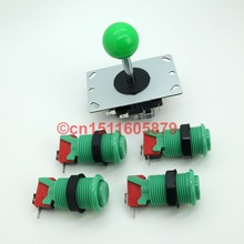 Fast Shipping! New 8 Way Arcade Joystick + 4 X 5V Happ Style Arcade Push Button with Microswitch for Mame Jamma & Video Games