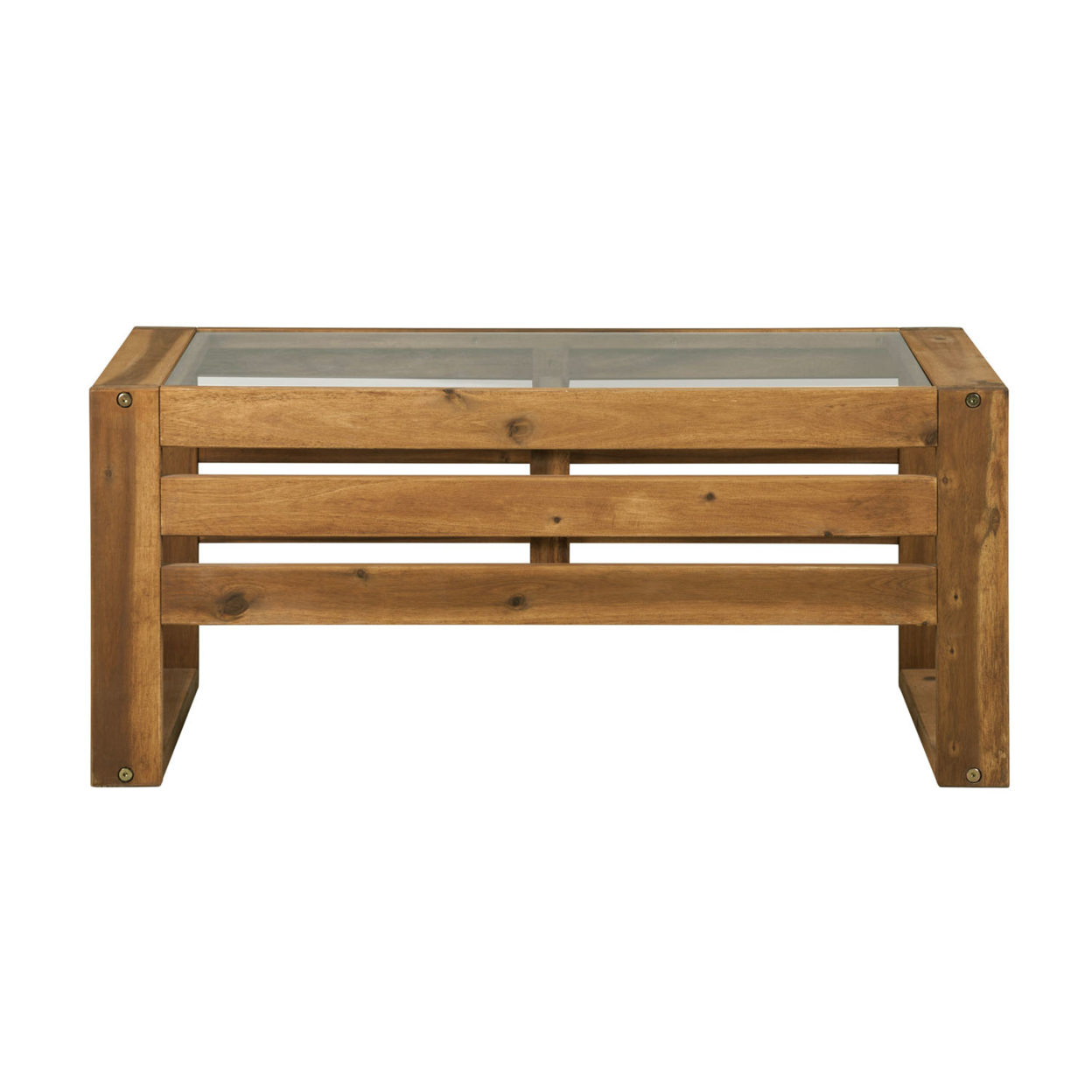 WE Furniture Open Side Wood Coffee Table - Brown стоимость