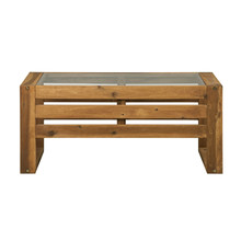 WE Furniture Open Side Wood Coffee Table - Brown()
