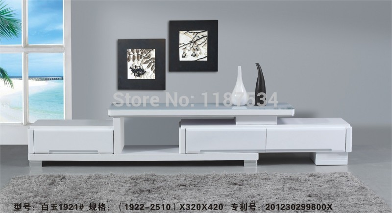 1921# Living room wooden glass stretch TV stand modern furniture simple TV be -> Table Tv En Coin