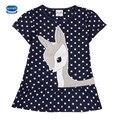 Новый летний малышей платья Nova малыш платье бренда девушки мода Ножницы мода детские платья случайные короткие рукава детские одежда
