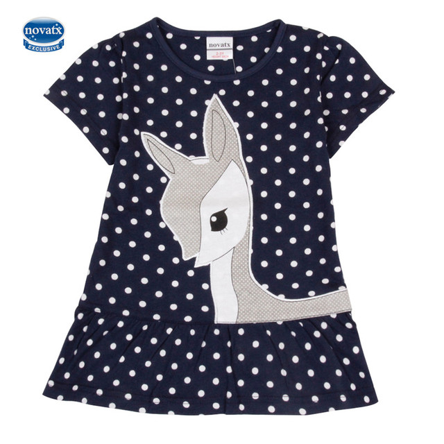 New summer toddler dresses Nova kid brand girl's dress fashion Shear fashion baby frocks casual short sleeves children's clothes