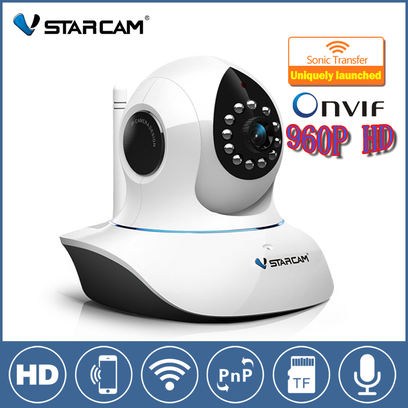 Vstarcam C38A 960P HD P2P 1.3 MP Wireless IP Camera with Pan/Tilt SD Card Slot and IR Cut Two Way Audio Support iPhone iOS