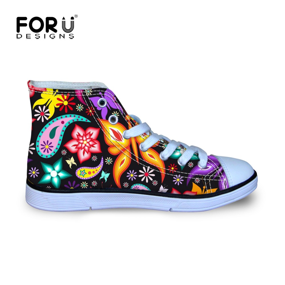 ab24d5d28555 FORUDESIGNS Colorful Butterfly Little Girls Outdoor Sneakers ...