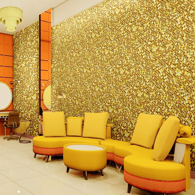 Online Shop 16 colors Modern Glitter Wallpaper Living Room club ...