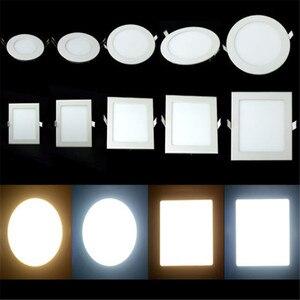 Image 3 - 10 adet Kısılabilir LED PANEL AYDINLATMA 3 W 6 W 9 W 12 W 15 W 25 W Gömme Tavan LED downlight Kapalı Spot Işık AC110V 220 V Sürücü Dahil