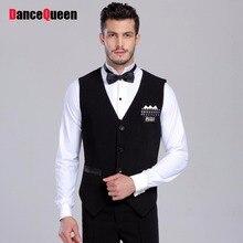 2017 New Arrival Professional Mens Ballroom Shirts Black/Stripe Vest Ballroom Dance Tops Jazz/Waltz/Latin Dance Top JDQ7003