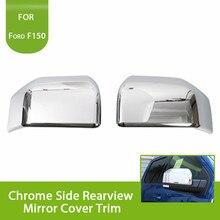 2 шт. тройной Хром сторона зеркало заднего вида чехол накладка для ford f150 F-150 2015 2016