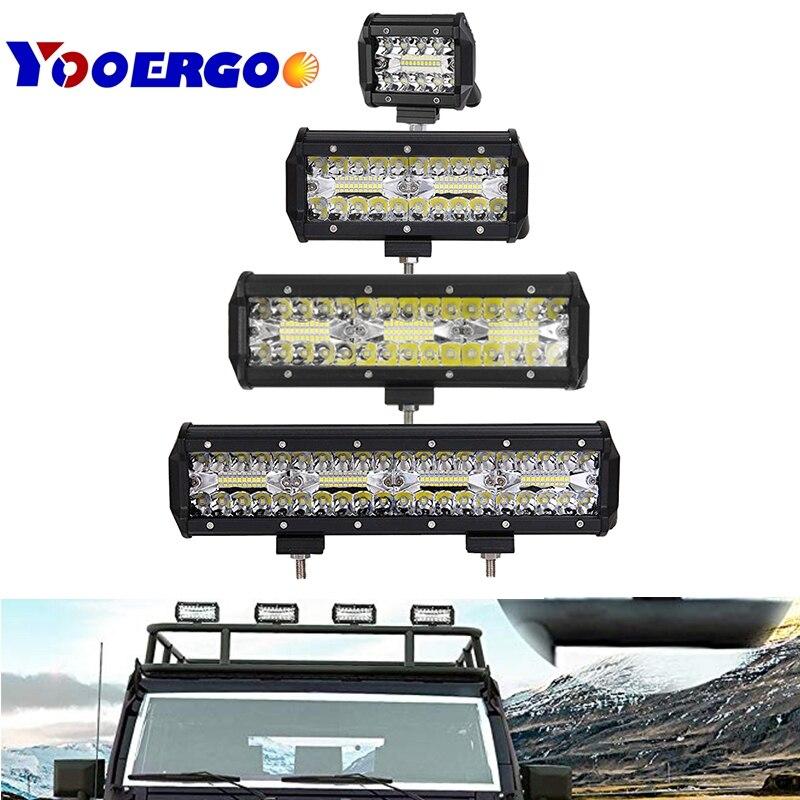 triplex row 20inch 420W LED Light Bar Work Spot Flood Combo Beam FOR ATV SUV