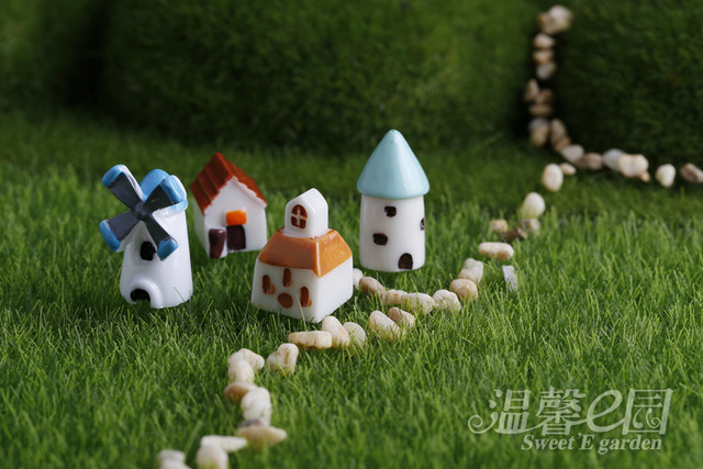 windmill house moss micro landscape ornaments multi meat decoration landscaping creative crafts house castle