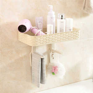 Image 5 - Creative Wall Mounted Storage Rack in Shower Room Mop Organizer Holder Brush Broom Suction on Wall Hanger Storage Rack Kitchen T