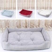 Решетка хлопок/лен питомник теплое и удобное гнездо кровать для собак гнездо для домашних животных корзины для собак со съемной и моющейся подушкой