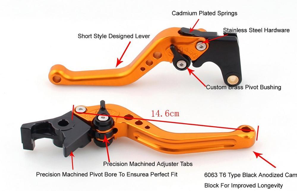 Купить короткий и длинный рычаг сцепления для мотоцикла honda cbr600rr