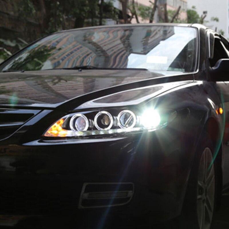 2 шт светодиодный фары для Mazda 6 2003 2014 светодиодный огни автомобиля глаза ангела xenon HID комплект протовотуманная подсветка Габаритные огни