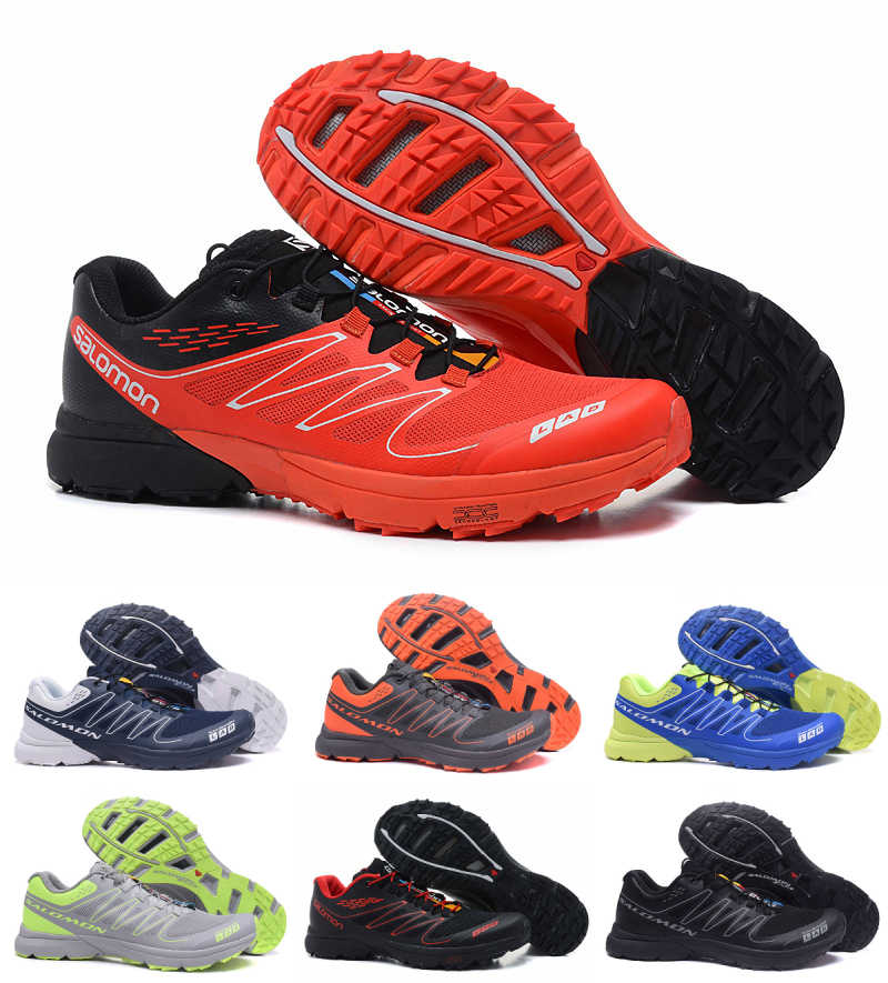 new product 99312 5b4e8 2018 Black Salomon S-LAB SENSE Men s Shoes Outdoor Jogging Sneakers Lace Up  Athletic Running