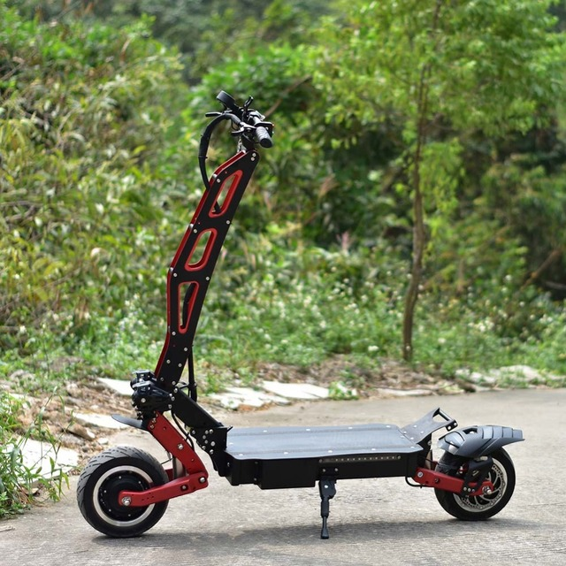 two wheel electric rechargeable personal standing electronics all terrain scooter 3200W citycoco fat tire bike