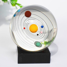 XINTOU 8cm Solar System Crystal Ball Decoration Planet Balls for Astronomer,Lover of Space Gifts for Kids,Girlfriend,Teachers