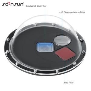 Image 2 - SOONSUN フィルター切替ドームポート防水ケースダイビング W/フロートの Gopro ヒーロー 5 6 7 移動プロ 7 アクセサリー