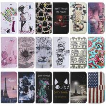 Flip Leather Case For Samsung Galaxy J1 2015 SM J100H J100F Capa J1Mini J105 Cute Case For J1 2016 J120F Wallet Stand Cover P06Z стоимость