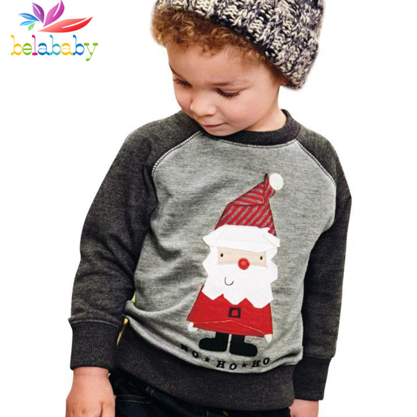 Belababy Baby Sweaters Cotton Sweater 2017 Fashion 2-6 Years Winter Children's Clothing Christmas Boys And Girls Cartoon Sweater