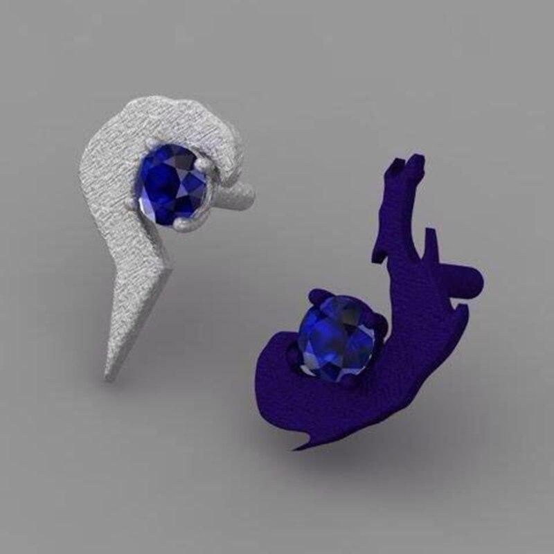 LoL héros maître Couples amoureux anneaux 925 bijoux en argent Sterling bagues de fiançailles soeur anneau jeu bijoux pour Couples - 5