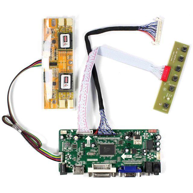 """H dvi dvi vga placa de motorista de áudio lcd para 20.1 """"22"""" M201EW02 V1 M220EW01 V0 1680x1050 tela lcd"""
