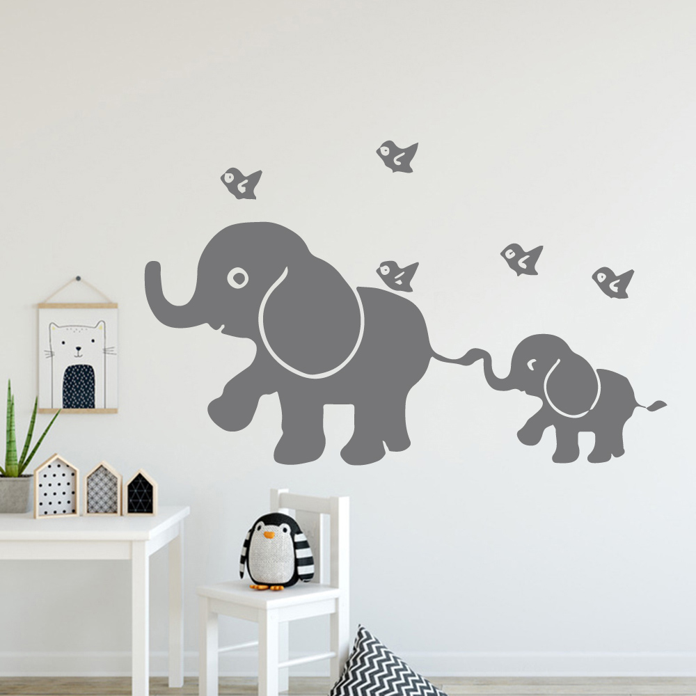 Aliexpress New Elephant Vinyl Self Adhesive Wallpaper Nursery Room Decor Diy Pvc For Kids Rooms Decoration Accessories From Reliable Wall Stickers